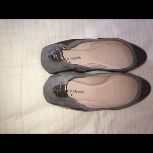 Donald J. Pliner Shoes - Gray flats/gray shoes